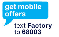 get mobile offers. text factory to 68003